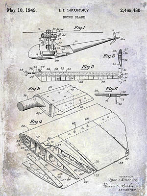 1949 Helicopter Patent Art Print