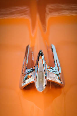Hoodie Photograph - 1949 Lincoln Coupe Hood Ornament by Jill Reger