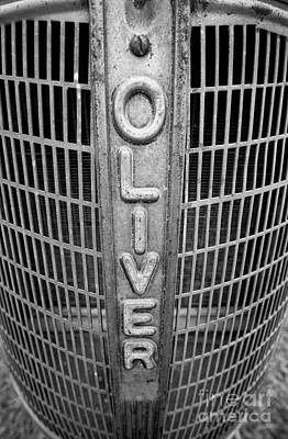 Oliver Tractor Photograph - 1949 Oliver Tractor Grill by Patrick M Lynch