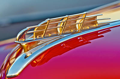 Hoodie Photograph - 1949 Plymouth Hood Ornament by Jill Reger