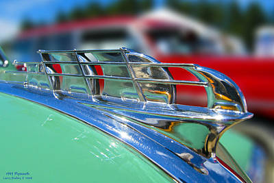 1949 Plymouth Hood Ornament Print by Larry Keahey