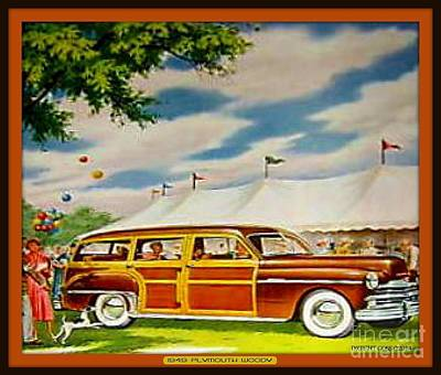 Woodies Mixed Media - 1949 Plymouth Woody by Dwight Goss