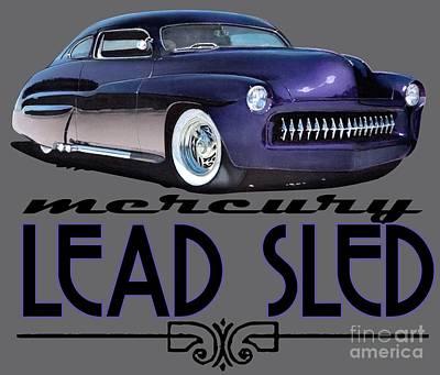 1949 Digital Art - 1949 Purple Mercury Lead Sled  by Paul Kuras