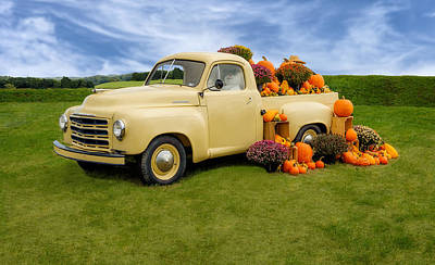 Photograph - 1949 Studebaker Truck Ready For Fall by Frank J Benz