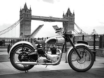 Bsa Photograph - 1949 Triumph T100 by Mark Rogan