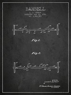 1950 Barbell Patent Spbb04_cg Art Print