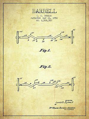 1950 Barbell Patent Spbb04_vn Art Print