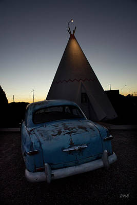 Photograph - 1950 Blue Ford by David Gordon