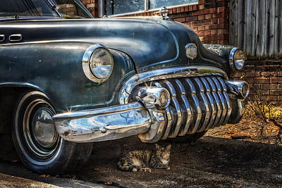 Blue Buick Photograph - 1950 Buick Dynaflow by Debra and Dave Vanderlaan