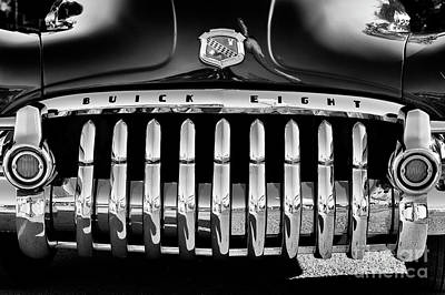 Fifties Buick Photograph - 1950 Buick Eight Grille by Tim Gainey