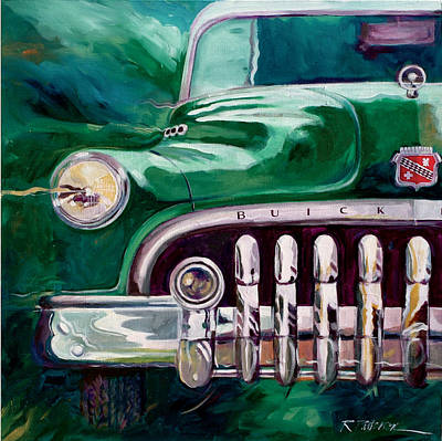 1950 Buick Roadmaster Art Print by Ron Patterson