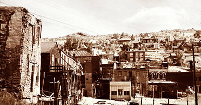 Photograph - 1950 Central City Sepia by Marilyn Hunt