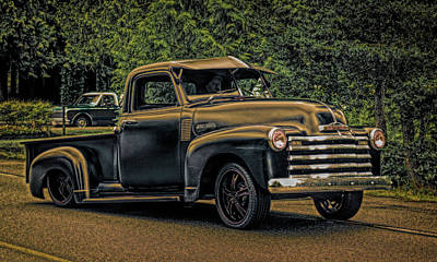 Digital Art - 1950 Chev Pickup by Richard Farrington