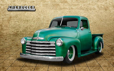 1950 Chevrolet Pickup Art Print by Frank J Benz
