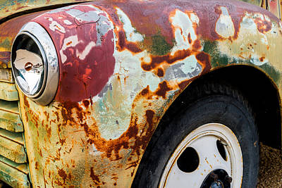 Photograph - 1950 Chevy Fender by TL  Mair