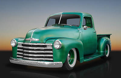 1950 Chevy Pickup Truck Print by Frank J Benz