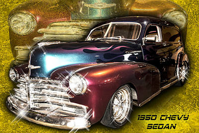 Photograph - 1950 Chevy Sedan by Scott Cordell