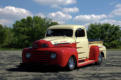 Photograph - 1950 Ford F1 Pickup Dragster by TeeMack