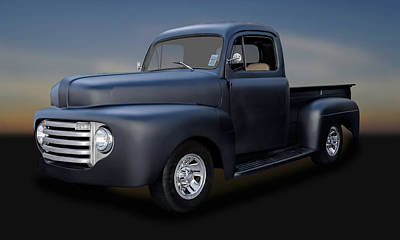 Photograph - 1950 Ford Pickup Truck  -  50fdtrk088 by Frank J Benz