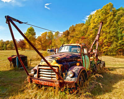 Photograph - 1950 Gmc Truck by Mark Allen