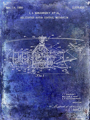 Helicopter Photograph - 1950 Helicopter Patent by Jon Neidert