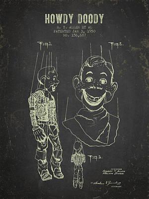 Howdy Digital Art - 1950 Howdy Doody - Dark Grunge by Aged Pixel