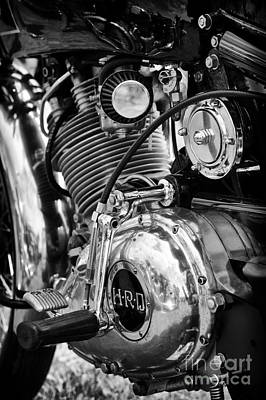 Photograph - 1950 Hrd Vincent Series B Meteor  by Tim Gainey