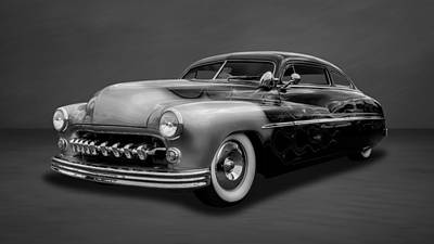 Photograph - 1950 Mercury  -  4bw by Frank J Benz