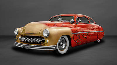 Photograph - 1950 Mercury Sedan  -  50merc942 by Frank J Benz