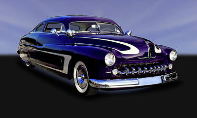 Photograph - 1950 Mercury Sedan  -  1950mercurypurp9268 by Frank J Benz