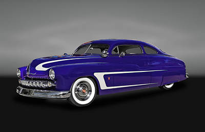 Photograph - 1950 Mercury Sedan  -  50mercbw039 by Frank J Benz