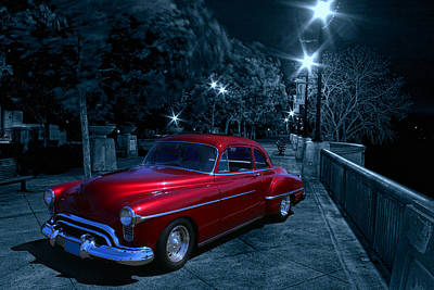 1950 Olds Ninety-eight Art Print by Michael Cleere