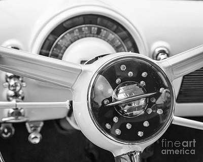Photograph - 1950 Oldsmobile Steering 2 by Dennis Hedberg