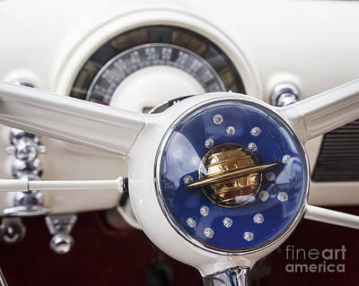 Photograph - 1950 Oldsmobile Steering by Dennis Hedberg