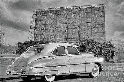 Photograph - 1950 Packard At The Drive In by Janette Boyd