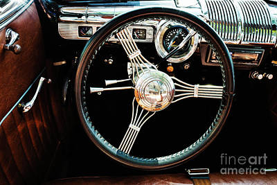 Photograph - 1950 Plymouth Coupe Dashboard by M G Whittingham
