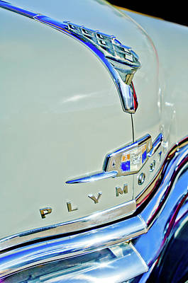 1950 Plymouth Coupe Hood Ornament Art Print by Jill Reger