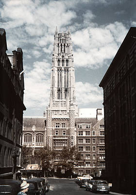 Photograph - 1950 Riverside Church And Old Cars by Marilyn Hunt