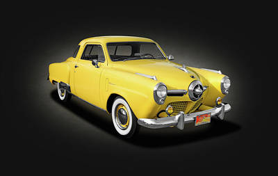 Photograph - 1950 Studebaker Champion Regal Deluxe Starlight Coupe  -  1950studestarlightspottext142416 by Frank J Benz
