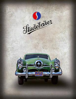 Freeway Digital Art - 1950 Studebaker Coupe by Daniel Hagerman