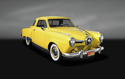Photograph - 1950 Studebaker Deluxe Starlight Coupe  -  1950studestarlightcpegray142416 by Frank J Benz