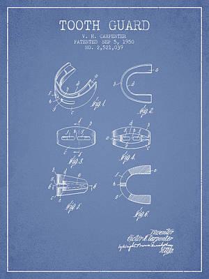 Guard Digital Art - 1950 Tooth Guard Patent Spbx16_lb by Aged Pixel