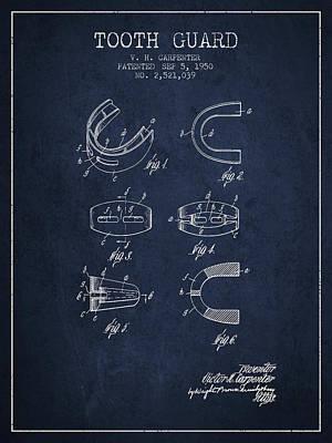 1950 Tooth Guard Patent Spbx16_nb Art Print
