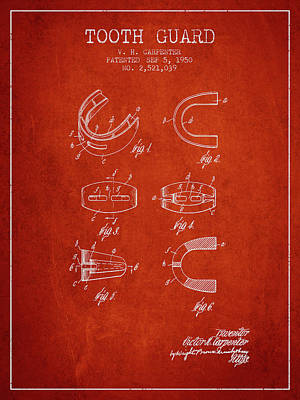 1950 Tooth Guard Patent Spbx16_vr Art Print