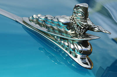 1950 Woodie Wagon One Of A Kind Hood Ornament 2 Art Print by Jill Reger
