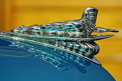 1950 Woodie Wagon One Of A Kind Hood Ornament Art Print