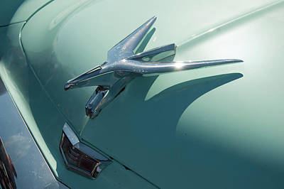 Photograph - 1950s Chrysler Falcon Hood Ornament by Chris Flees