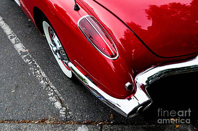 Print featuring the photograph 1959 Corvette by M G Whittingham