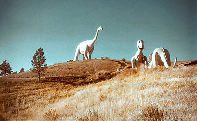 Photograph - 1950s Dinosaur Park by Marilyn Hunt