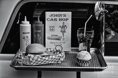 Photograph - 1950's Drive-in by Doc Braham